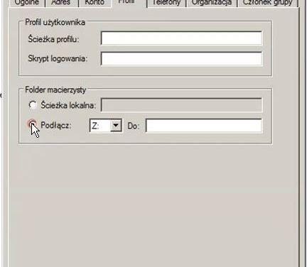 Jak skonfigurować folder macierzysty?