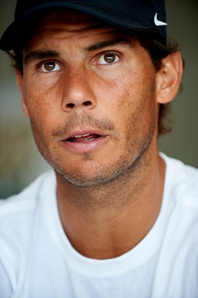 MONTE-CARLO, MONACO - APRIL 16: Rafael Nadal of Spain talks to the media during day one of the ATP Monte Carlo Rolex Masters Tennis at Monte-Carlo Sporting Club on April 16, 2017 in Monte-Carlo, Monaco. (Photo by fotopress/Getty Images)