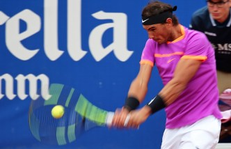 Rafa Nadal during the match against Kevin Anderson corresponding to the Barcelona Open Banc Sabadell, on April 27, 2017. (Photo by Urbanandsport/NurPhoto via Getty Images)