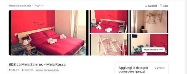 Il b&b a Salerno prenotato su Airbnb