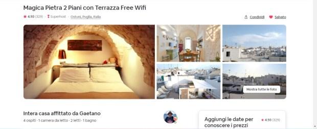 La casetta di Ostuni prenotata su Airbnb