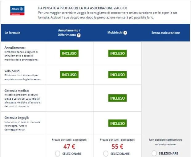 Quale assicurazione di viaggio? L'assicurazione di viaggio proposta da Airfrance