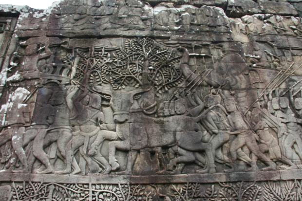 Visitare i templi di Angkor - Dettaglio della decorazione