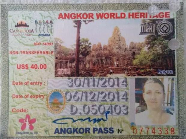 Il pass per entrare ai Templi di Angkor