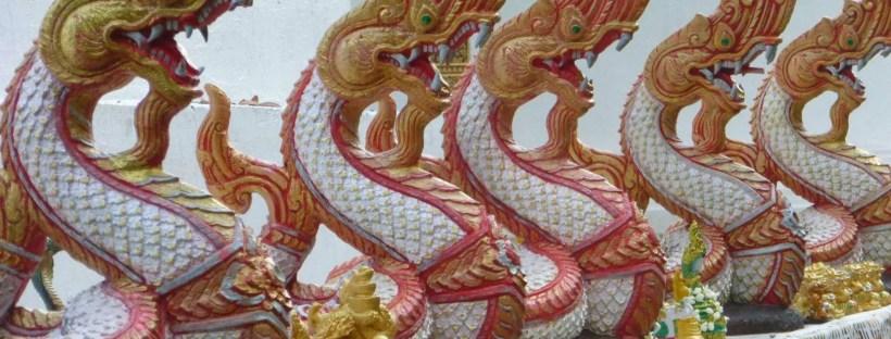 Dettaglio di tempio a Chiang Mai