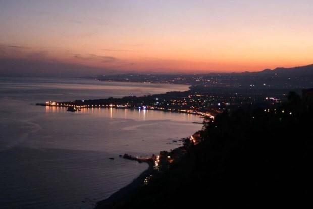 Tour della Sicilia: Il tramonto da Taormina