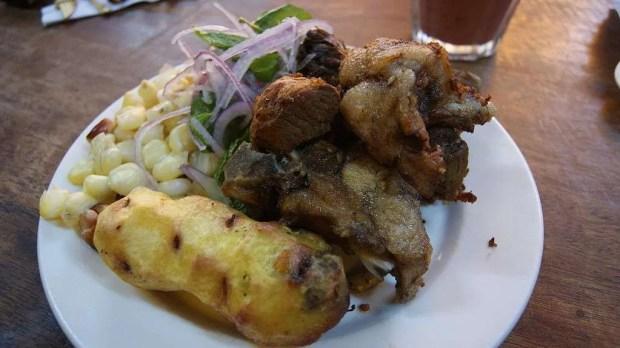 I chicharrones, altra specialità dello street food peruviano