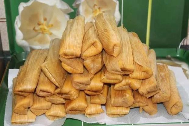 I tamales, specialità di cibo di strada