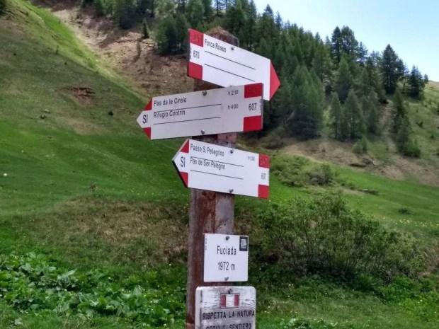 I sentieri che partono dal Rifugio Fuciade