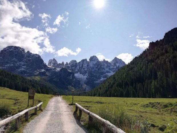 Lungo il sentiero del giro delle malghe della Val Venegia