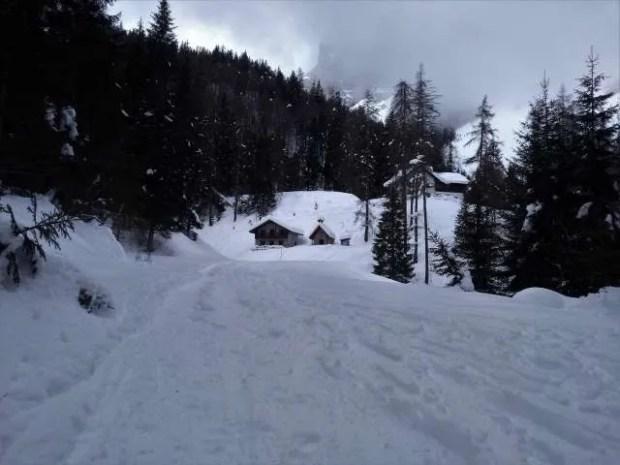 Ecco come si presenta il Rifugio Giaf in inverno