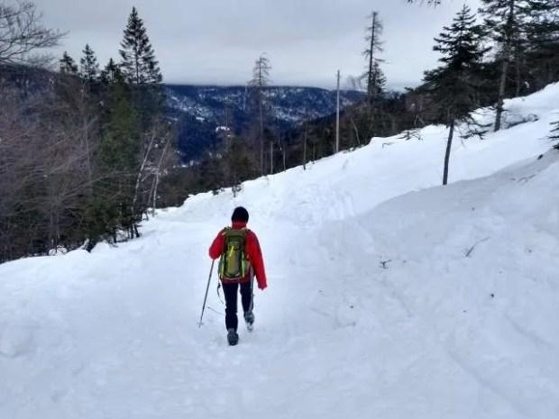 Sulla neve senza ciaspole