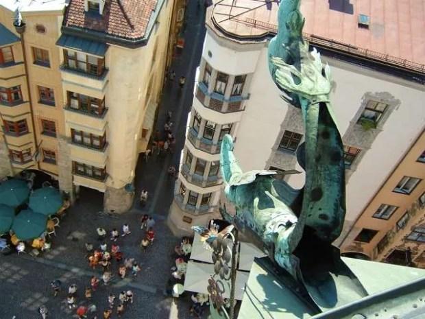 La vista dalla torre civica di Innsbruck