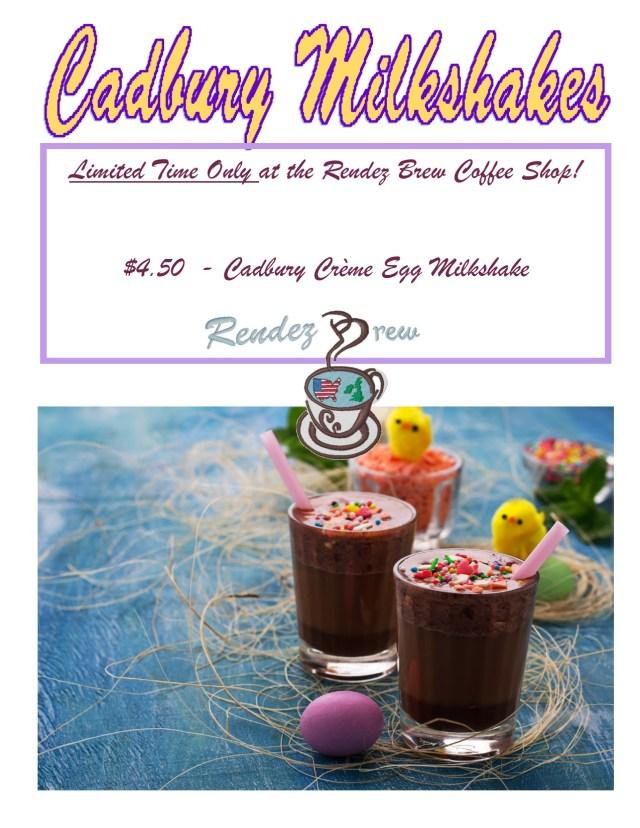 Cadbury Creme Egg Milkshake 2019