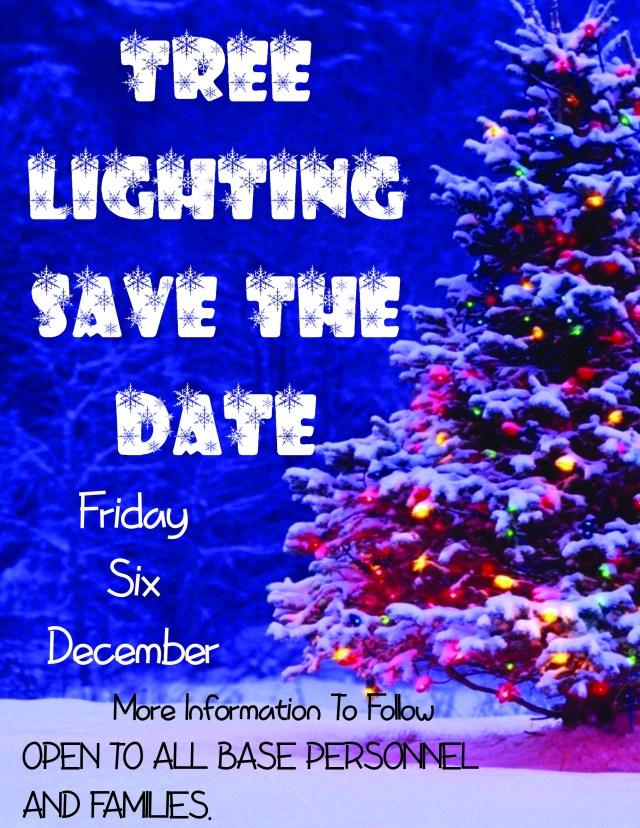 Save the date Tree Lighting