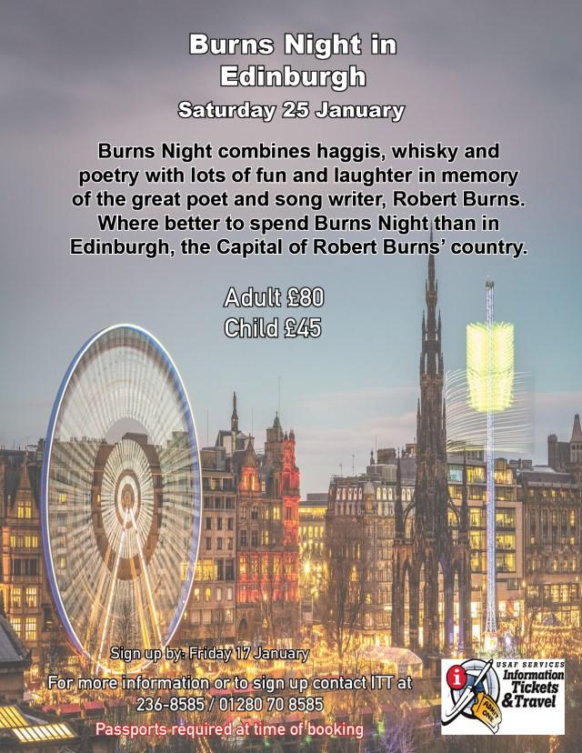 2020 Burns Night in Edinburgh