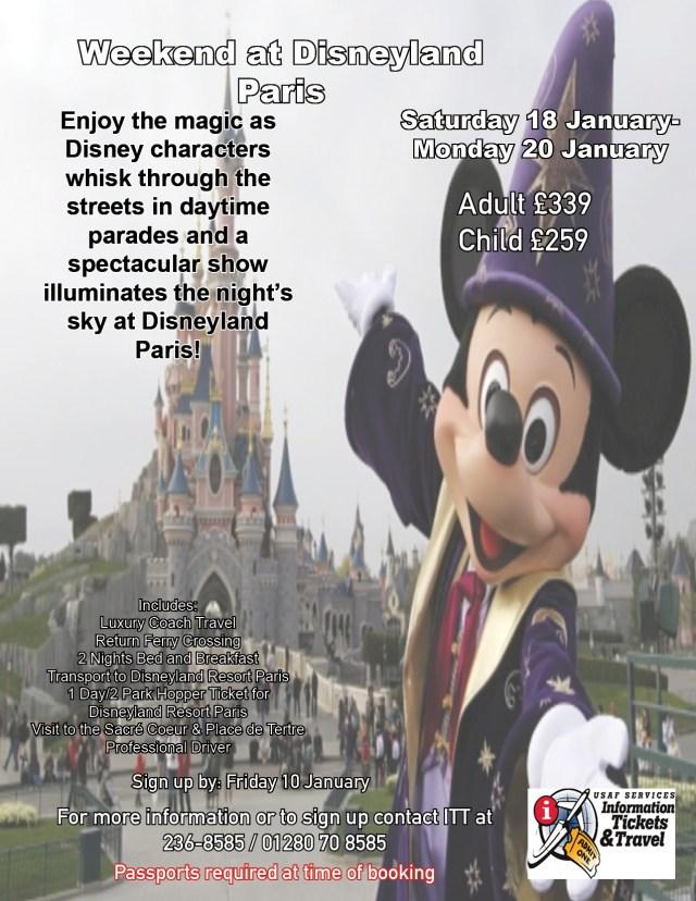 2020 Weekend in Disneyland Paris