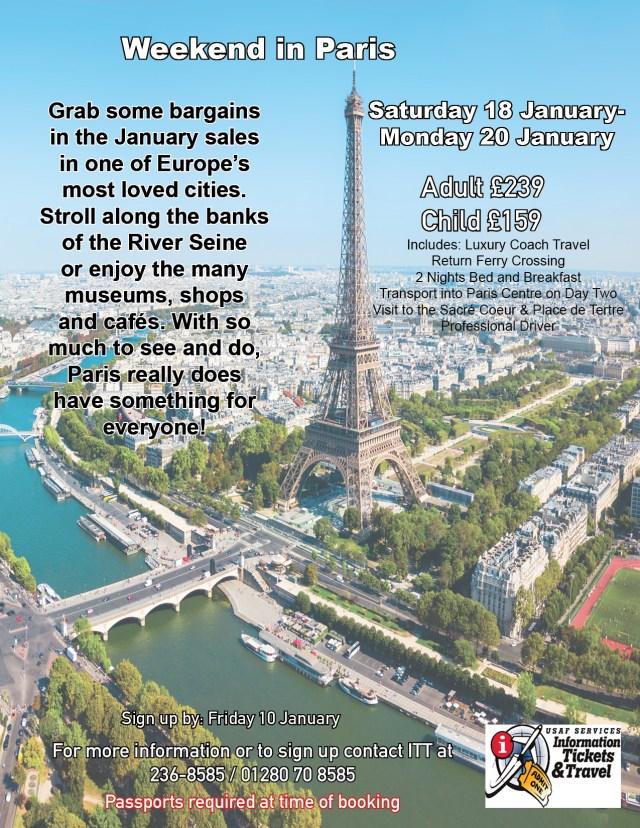 2020 Weekend in Paris