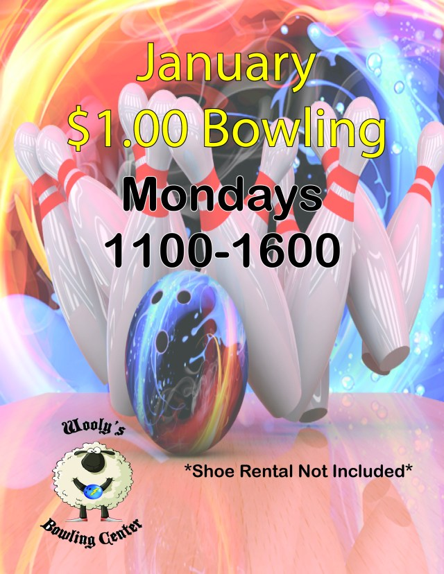 Mondays $1 Bowling in January