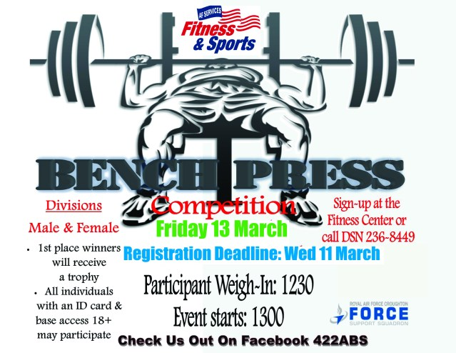 Bench Press competition March 2020