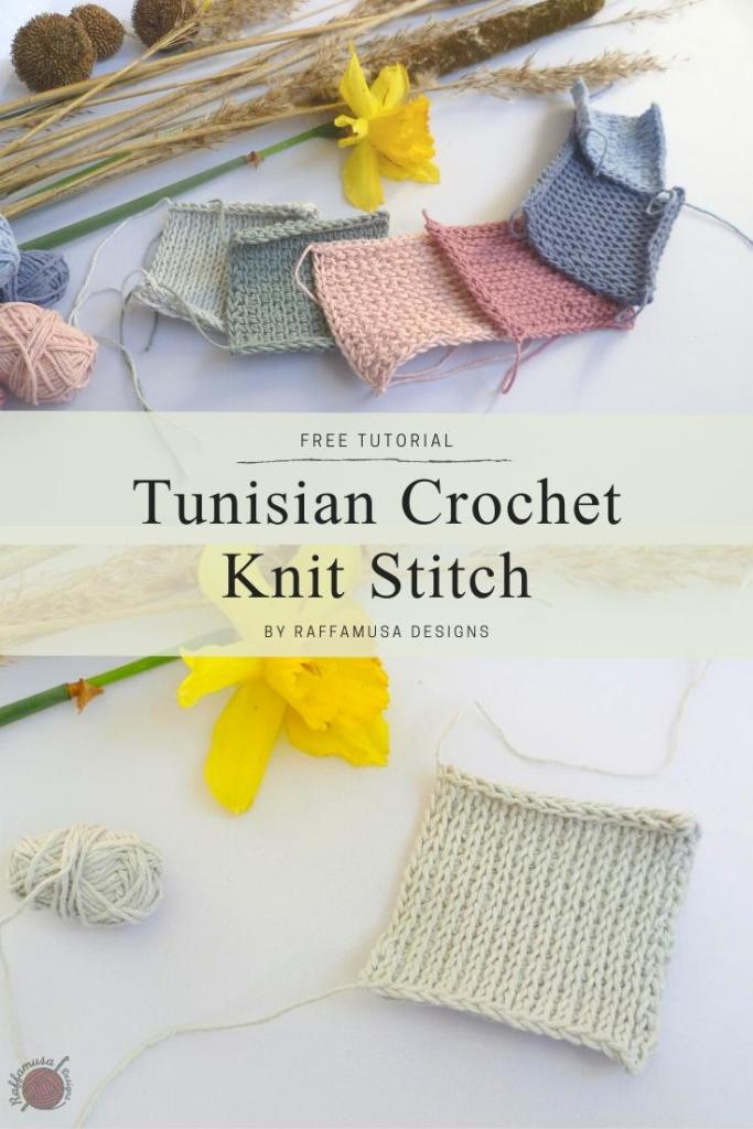 Pin the free tutorial of the Tunisian Knit stitch for later