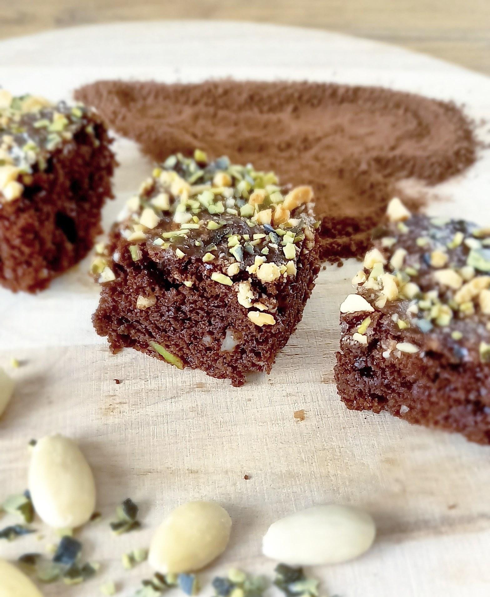 Brownie Kuchen mit Kürbiskernen