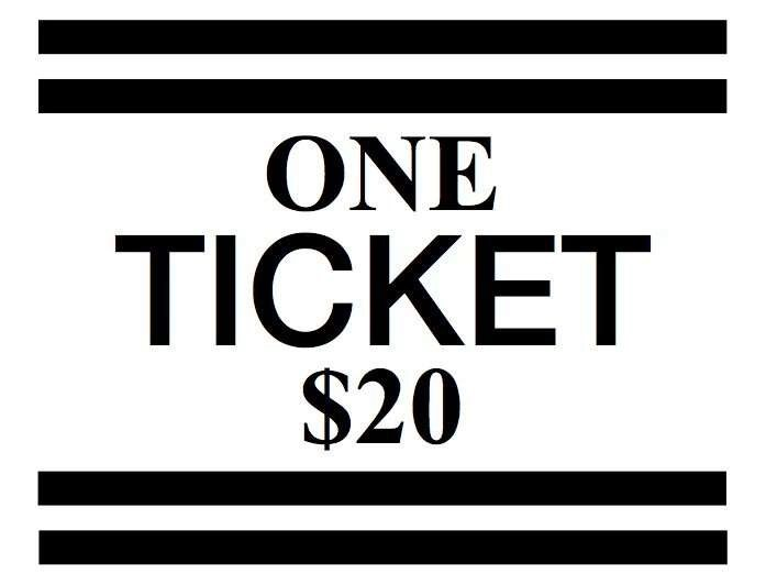 1 Ticket for $20