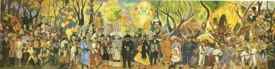 Sueño de una tarde dominical en la alameda central. Diego Rivera.