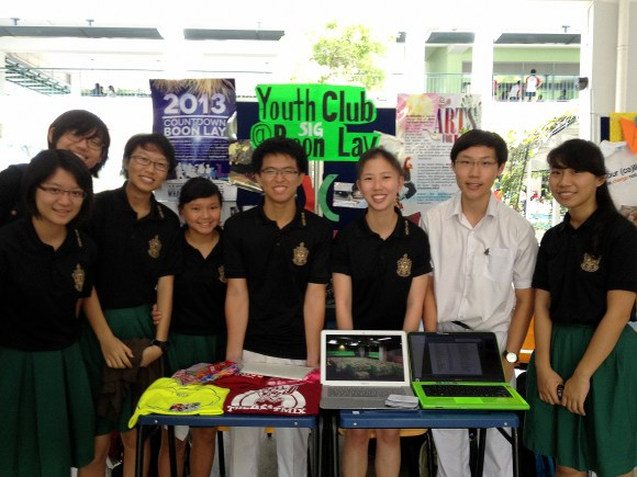 Members at BLYC's booth during CCA Feste