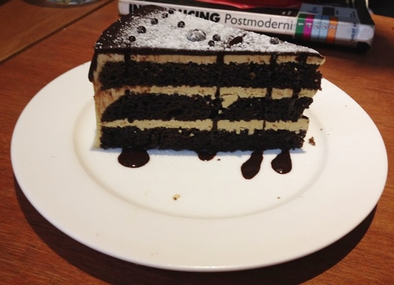 Sea Salt and Chocolate Cake ($6)
