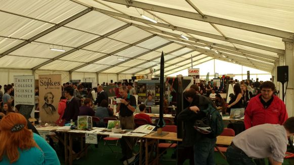 The Freshers' Fair at Cambridge, where students can visit booths set up by the myriad of clubs and societies present on campus. [Source: Samantha Chan]