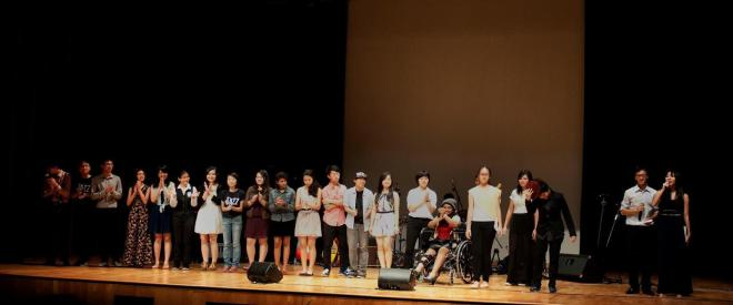 End of Acting segment for Jazz annual concert: Take My Word For it