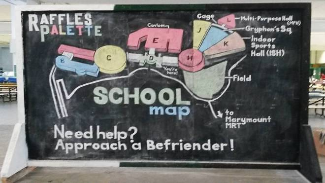 Campus map, key areas