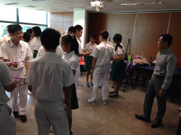 A typical sharing session during BLP!