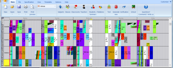 How complicated the timetable really is on the software