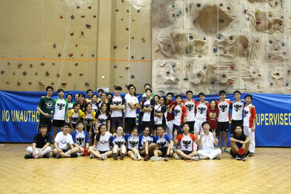 A group photo of all competitors from the various houses as the event comes to a close.