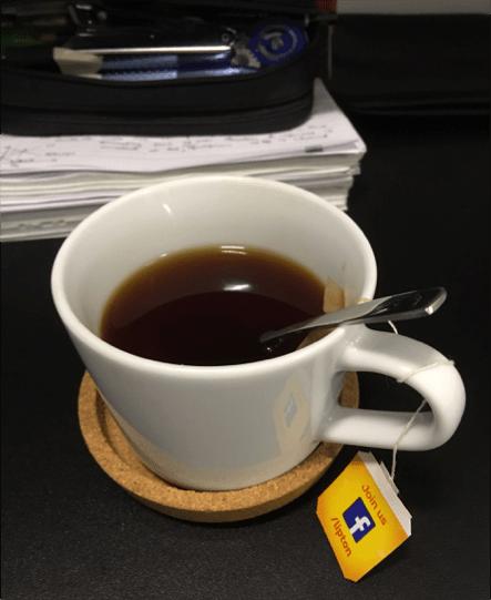 The tea that jolted me awake.