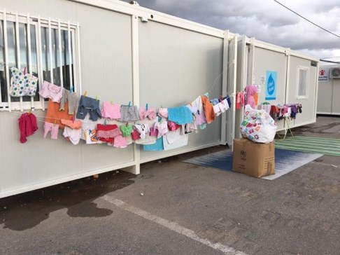 Drying clothes for mother baby space