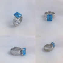 Blue Topaz Engagement Ring By Klee Angelie