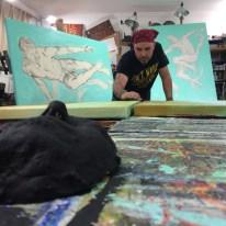 Rafi Perez in his art studio