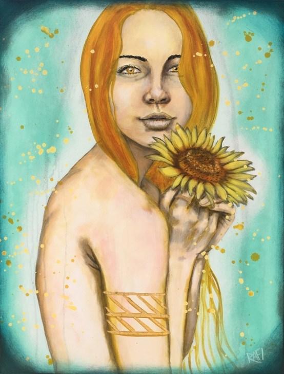 Sunflower Girls By Rafi Perez