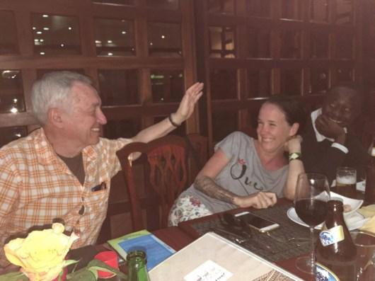 Dr Dan Hughes Visits Rafiki Mwema