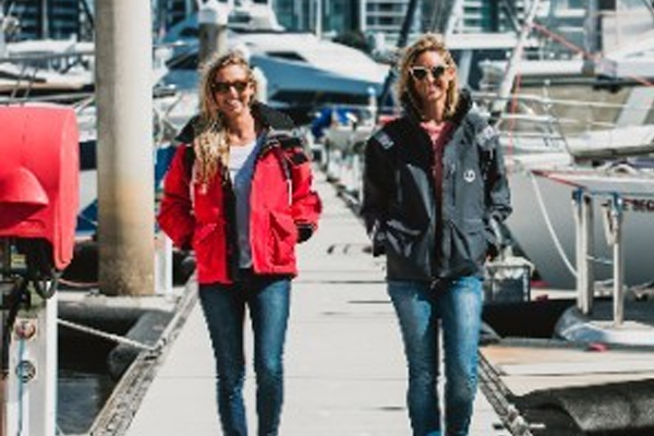 Marese (left) and Clare (right) raised funds for Rafiki Mwema during 2019's Sydney to Hobart