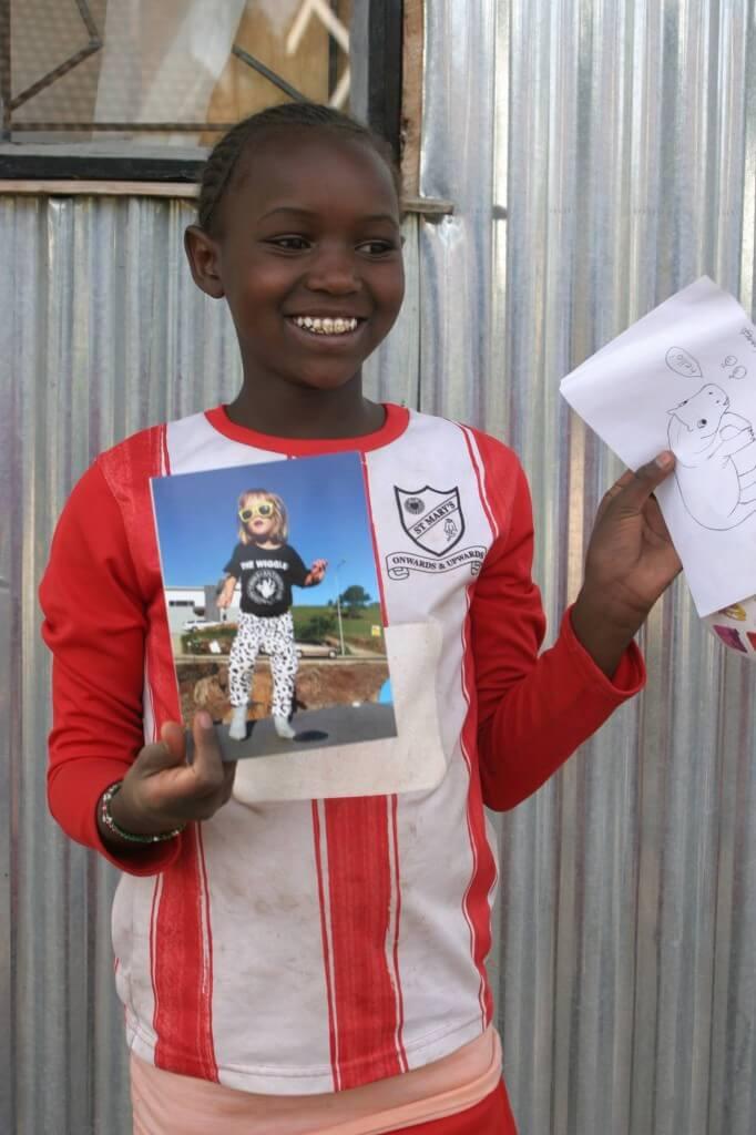 Sending letters to kids at Rafiki Mwema