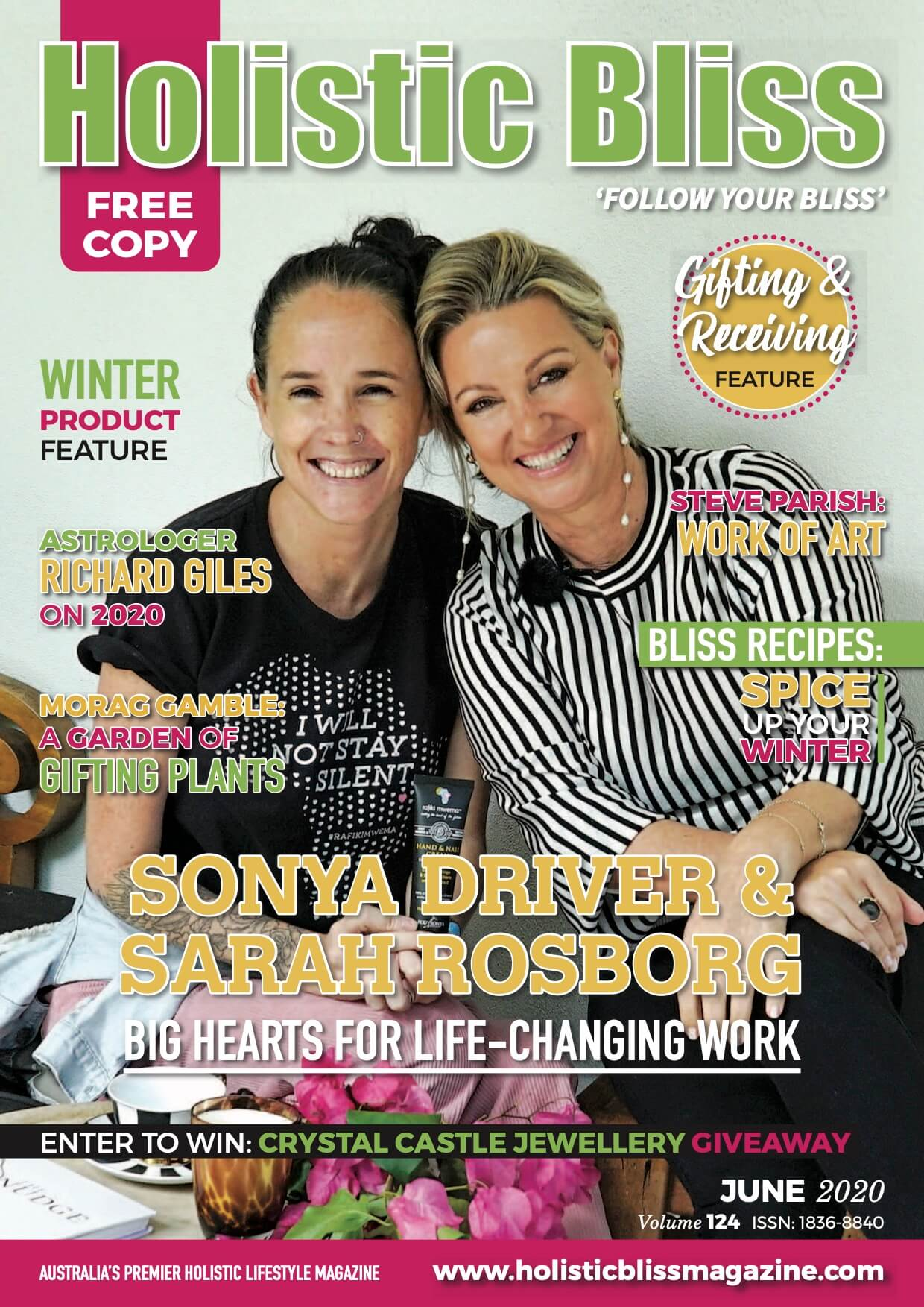 Sarah & Sonya – Cover Girls on Holistic Bliss 😱