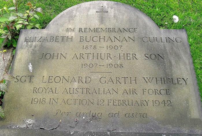 whibley gravestone, 12 feb 1942