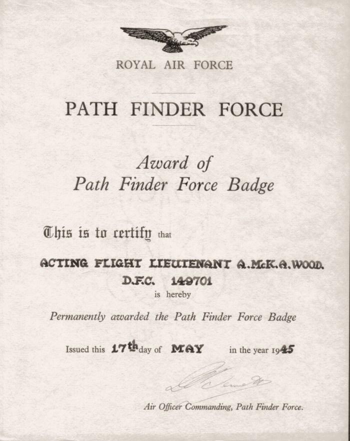 Alistair Wood - Pathfinder badge (permanent award) - Copy