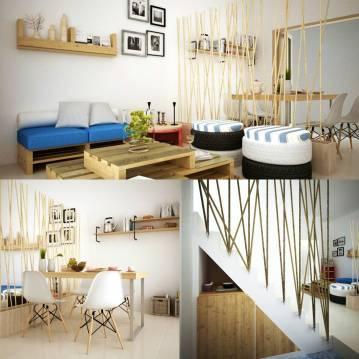 Desain Interior Ruang Tamu & Ruang Makan