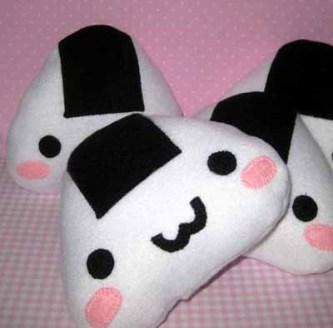 Surprise that onigiri lover with a kawaii rice ball pillow from Nancy Matsudaira of Sammamish, Wash. (Courtesy Nancym4)