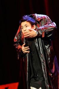 Kenichi Ebina's head trick impressed the judges. (NBC)
